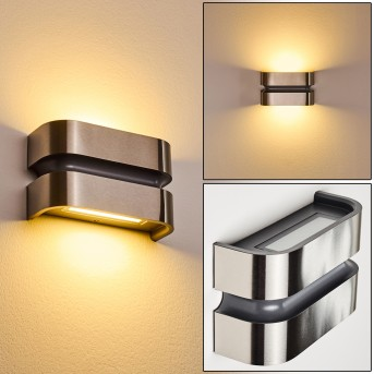 Outdoor Wall Light Kolding LED black, stainless steel, 1-light source