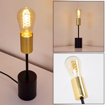 Gnarp Table lamp black, gold, 1-light source