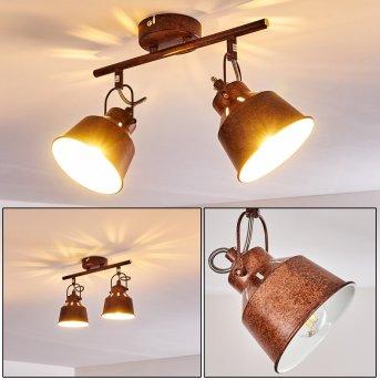 Safari Ceiling Light rust-coloured, 2-light sources