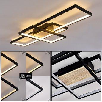 Alnarp Ceiling Light LED black, Light wood, 1-light source