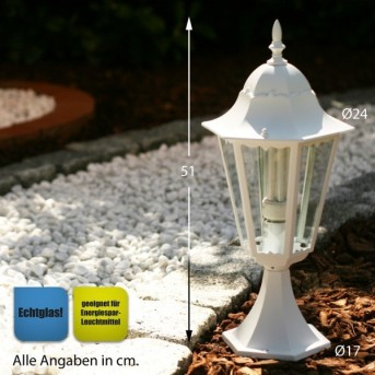 Lutec BRISTOL pedestal light white, 1-light source