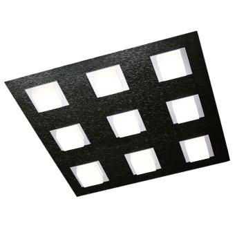 Grossmann BASIC Ceiling Light LED black, 9-light sources