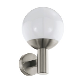 Eglo Connect NISIA Outdoor Wall Light LED stainless steel, 1-light source