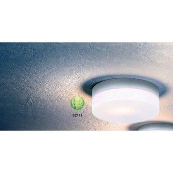 Globo VRANOS ceiling light silver, stainless steel, white, 1-light source