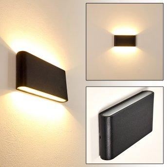 MARSH Outdoor Wall Light LED black, 2-light sources