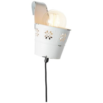 Brilliant Flower Ample Wall Light white, 1-light source