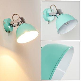 BORIK Wall Light blue, green , 1-light source
