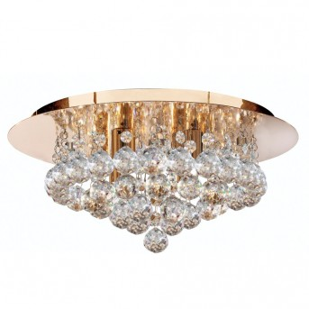 Ceiling Light Searchlight HANNA gold, 4-light sources