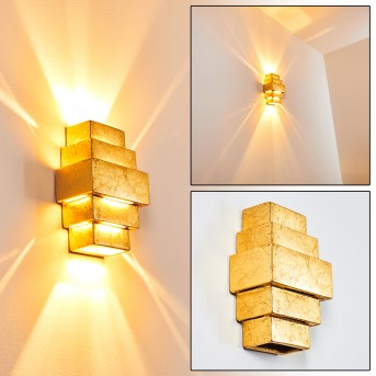 TOKIA Wall Light gold, 2-light sources