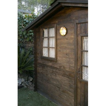 Faro Noray outdoor wall light brass, 1-light source