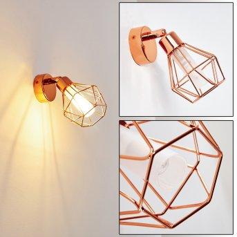 FERRAND Wall Light LED copper, 1-light source