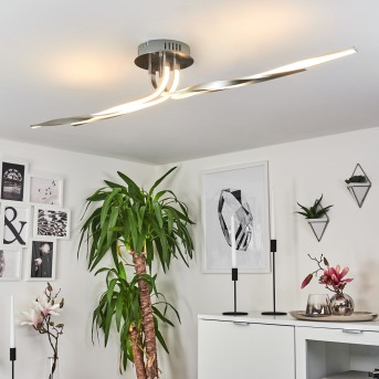 REMO Ceiling Light LED matt nickel, 1-light source