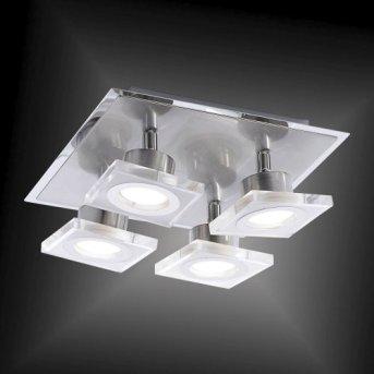 Leuchten-Direkt KOVI ceiling light LED stainless steel, 4-light sources