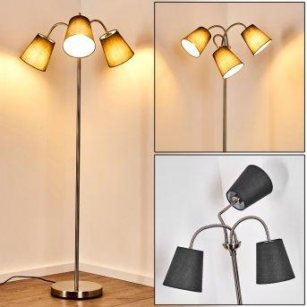 Ascona Floor Lamp matt nickel, 3-light sources