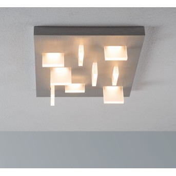 Escale SHARP ceiling light LED matt nickel, 9-light sources