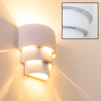 Karatschi wall light white, 1-light source