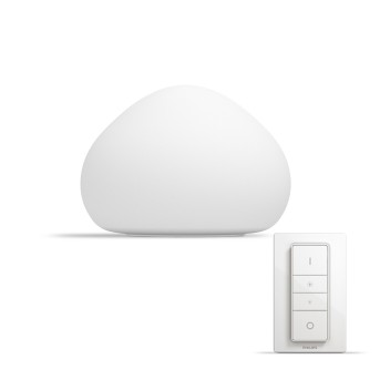 Philips HUE AMBIANCE WHITE WELLNER Table lamp, base set white, 1-light source, Remote control
