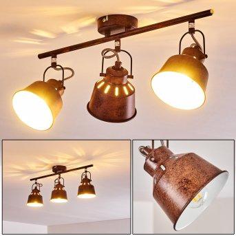 Safari Ceiling Light rust-coloured, 3-light sources