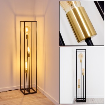 IBUSUKI Floor Lamp black, gold, 3-light sources
