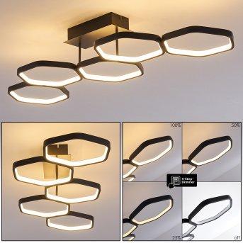 Halmstad Ceiling Light LED black, 1-light source