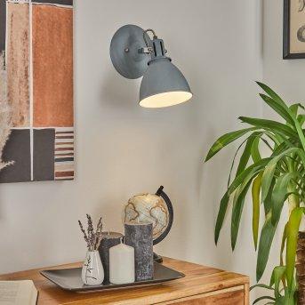 KOPPOM wall light blue, grey, 1-light source