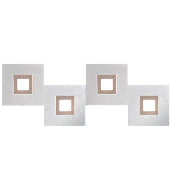 Grossmann KARREE Ceiling light LED aluminium, copper, 4-light sources