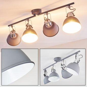 DOMPIERRE Ceiling light grey, white, 4-light sources