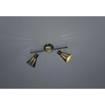 Trio-Leuchten Houston Ceiling Light black, 2-light sources