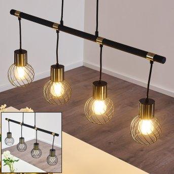 Bacau Pendant Light black-gold, 4-light sources
