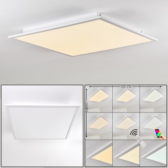 Salmi Ceiling Light LED aluminium, white, 1-light source, Remote control