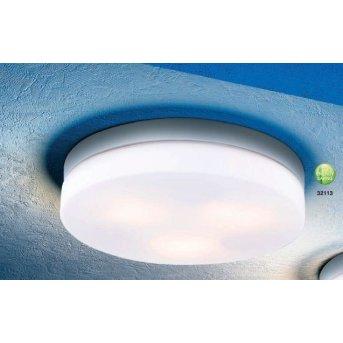 Globo VRANOS ceiling light silver, stainless steel, white, 3-light sources