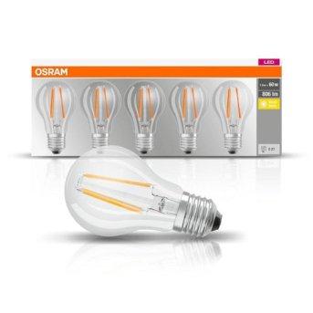 Osram LED E27 7 Watt 2700 Kelvin 806 Lumen Pack of 5