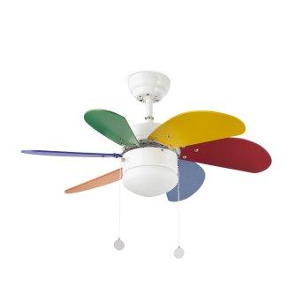 Faro Barcelona Palao Ceiling Fan with Lighting white, 1-light source