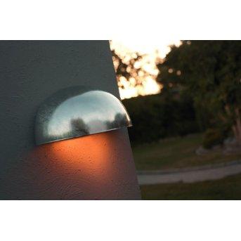 Nordlux Scorpius wall light galvanized, 1-light source