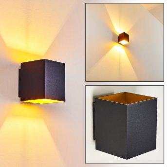 Laforsen Wall Light black, gold, 1-light source