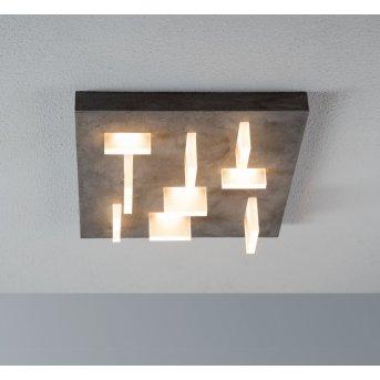 Escale SHARP ceiling light LED grey, 9-light sources