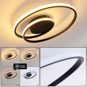 Leksund Ceiling Light LED black, 1-light source