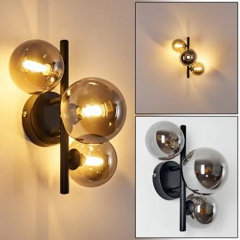 Chariton Wall Light LED black, 3-light sources