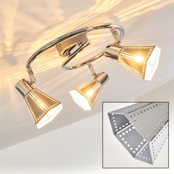 VANTAA ceiling light chrome, 3-light sources