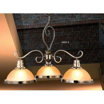 Globo SASSARI hanging light brass, gold, 3-light sources
