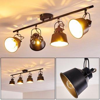 Safari Ceiling Light black, 4-light sources