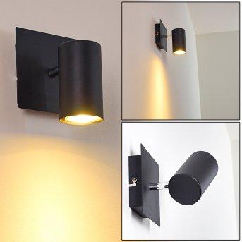 Wall Spotlight Zuoz black, 1-light source