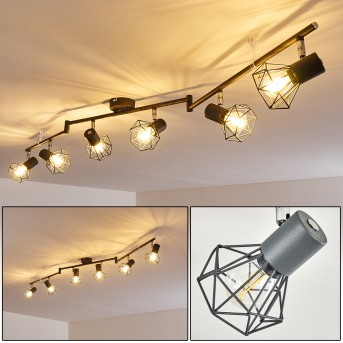 GULLSPANG Ceiling Light anthracite, 6-light sources
