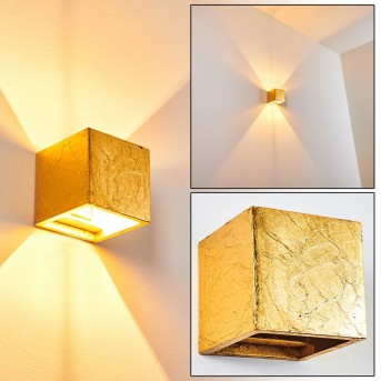 MAZARA Wall Light gold, 1-light source
