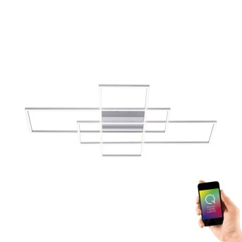 Paul Neuhaus Q-INIGO Ceiling light LED matt nickel, 3-light sources, Remote control