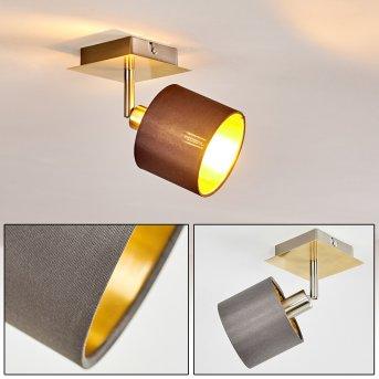 TIBRO Ceiling Light matt nickel, brass, 1-light source