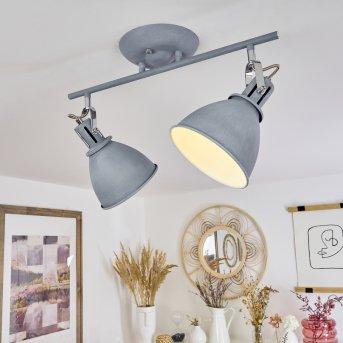 KOPPOM ceiling light blue, grey, 2-light sources