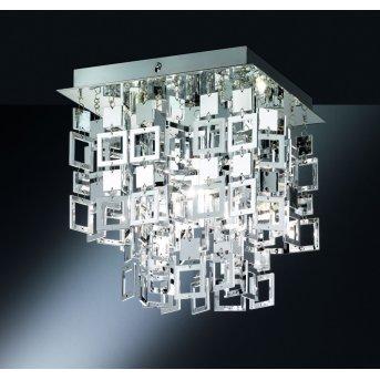Reality QUADRATO ceiling light chrome, 1-light source