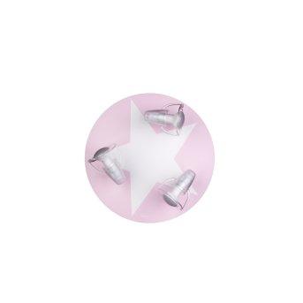 Waldi WIMBEL Ceiling light white, pink, 3-light sources