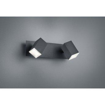 Trio LAGOS Wall Light LED black, 2-light sources